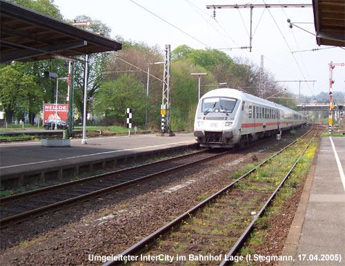 InterCity durchfährt ausnahmsweise den Bahnhof Lage