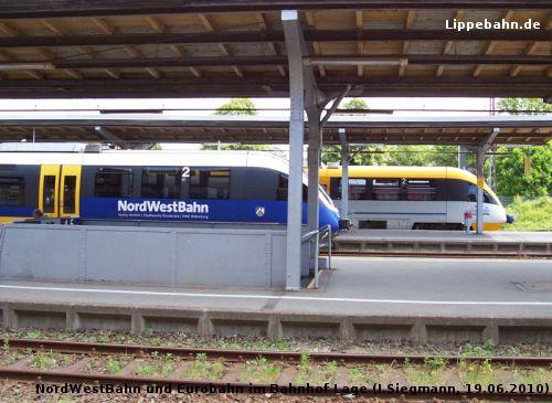 Triebwagen-Treff im Bahnhof Lage am 19.06.2010