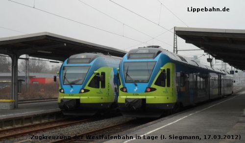 RB 72 der Westfalenbahn im Bahnhof Lage