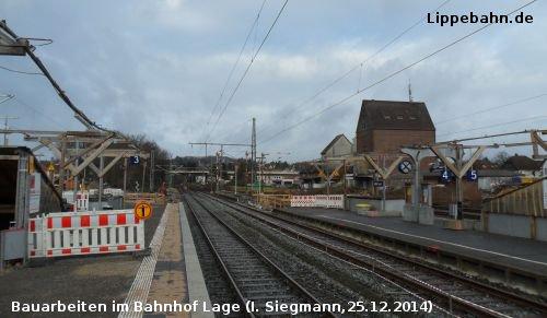 Bauarbeiten im Bahnhof Lage