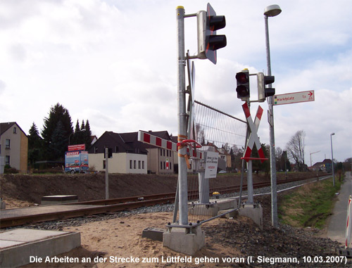Bahnhübergang in Lemgo