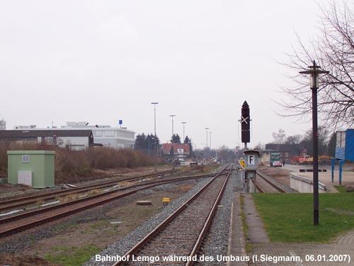 Bahnhof Lemgo beim Umbau