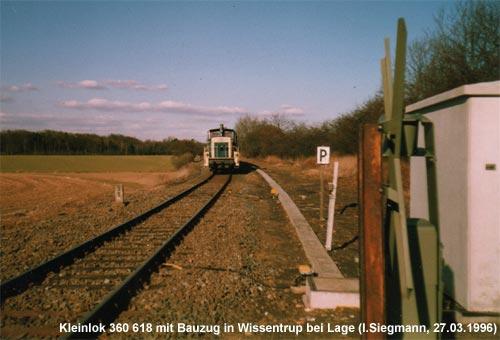 Standort des Bahnhofes Wissentrup?