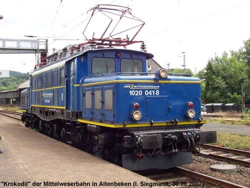 1020 der Mittelweserbahn in Altenbeken