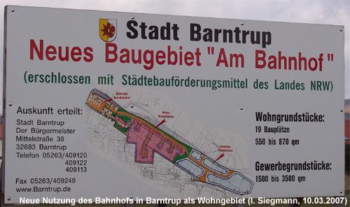 Neubaugebiet im Bereich des alten Bahnhofs Barntrup