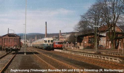 Vorerst fahren keine Züge zwischen Dörentrup und Lemgo. Hier der Bahnhof Dörentrup in besseren Zeiten.