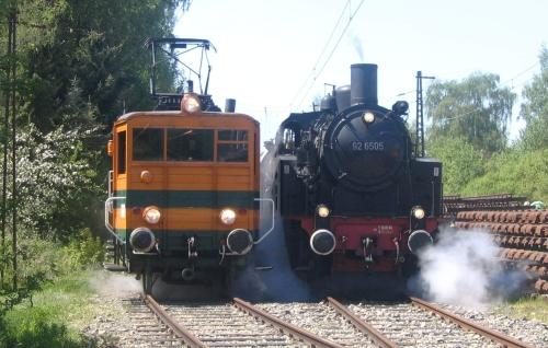Lokwechsel auf der Extertalbahn (Quelle: Pressemitteilung der LEL)